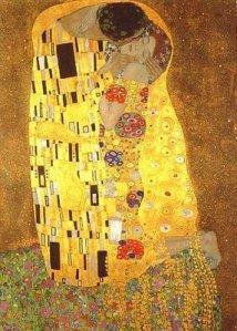 """O beijo"" Gustave Klimt"